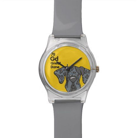 #watches #wristwatches Merle Great Dane Natural Ears - The Dog Table Wristwatch - click/tap to personalize