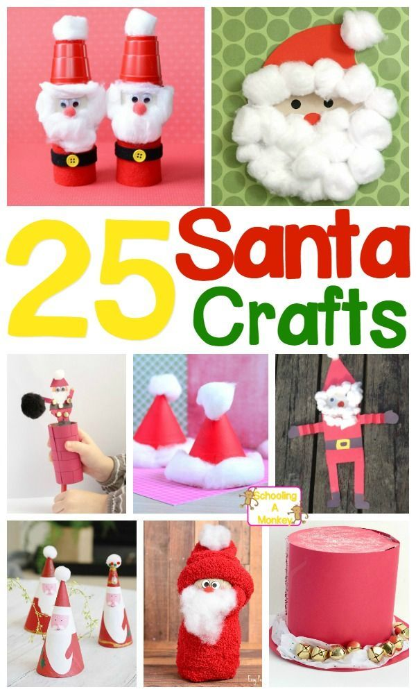 Delightful And Adorable Santa Claus Crafts For Kids Christmas For