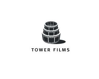 Tower Films Logo design - A great logo that would easily accompany any corner of the movie / film business sector.