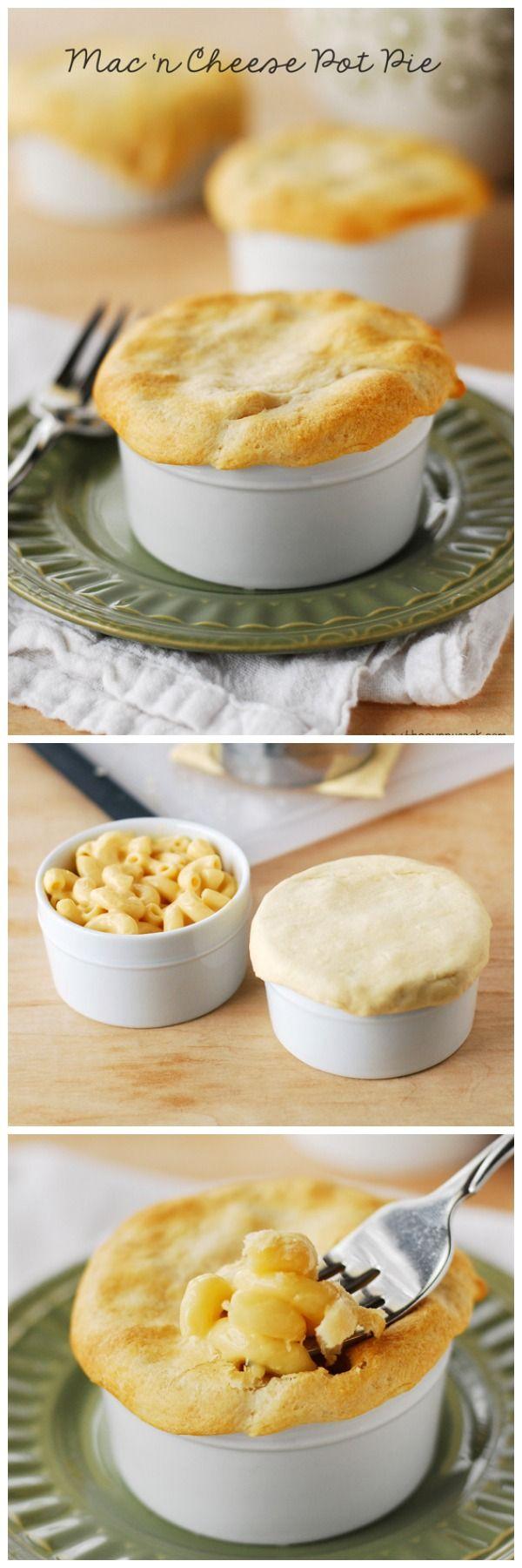 Macaroni and Cheese Pot Pie | http://www.thegunnysack.com/