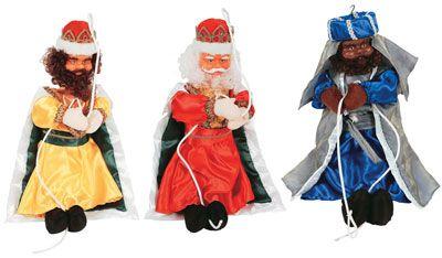 Reyes Magos Colgante,Reyes Magos Balcon,Reyes Magos Trepando,Reyes Magos escalera Luz para balcones,Reyes Magos en Cuerda Luz,Navidad,Papanoel,Navideño,Decoracion Navidad #Grandetalles