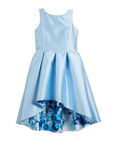 e89066a8330a Zoe Matte Sateen Floral High-Low Dress, Size 7-16 | Products ...