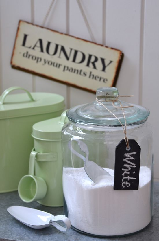 Laundry powder in glass canister  the Little Corner
