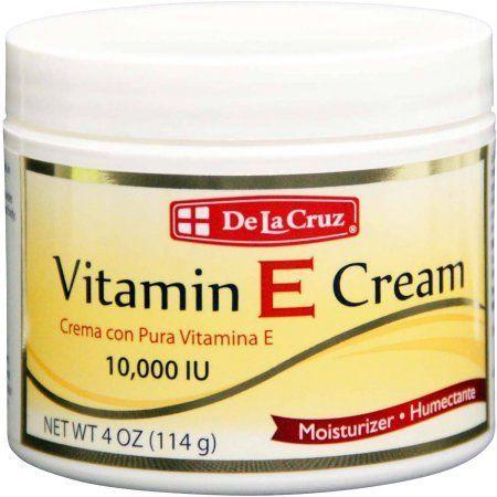 De La Cruz Vitamin E Cream Moisturizer, 4 oz, Multicolor
