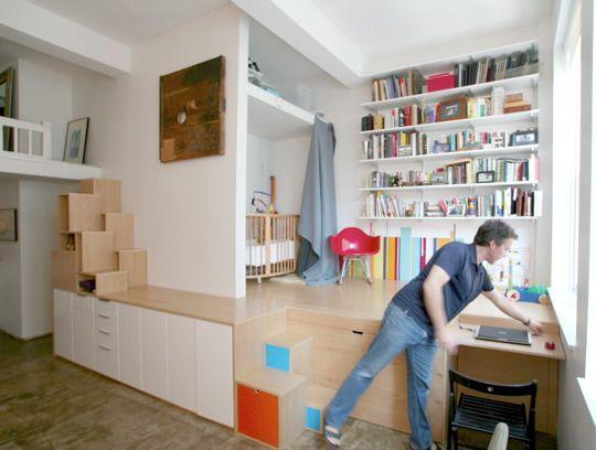 rangement sous estrade eliott pinterest chambres design et salle de bains. Black Bedroom Furniture Sets. Home Design Ideas