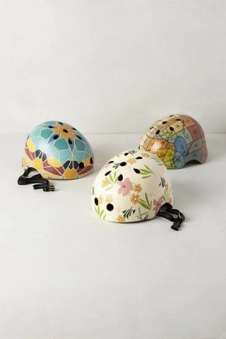 hand painted bike helmet -- totally a DIY