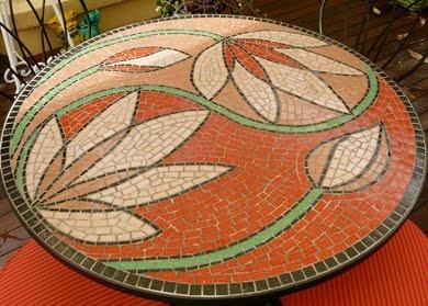 lotus mosaic table