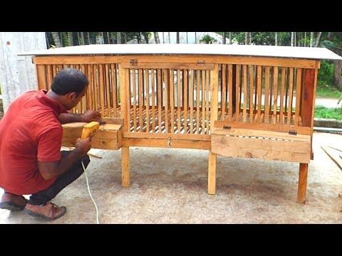 How To Build A Chicken Coop Make Wooden Chicken Cage Youtube Chicken Cages Building A Chicken Coop Chicken Coop