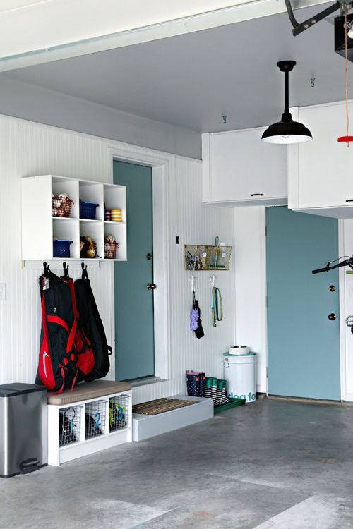 Who said your garage has to be left the way it is? Make it homey, paint some doors and/or walls.