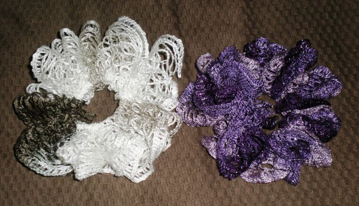 Crochet Project Ruffle Scrunchies These Are Very Easy To