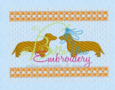 Faux Smocking Dachshund Weenie Dog Machine by BellaBleuMichigan
