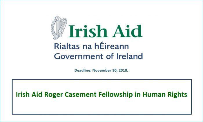 Irish Aid Roger Casement Fellowship In Human Right Deadline November 30 2018 Get More Information Through The Given Li Ssrc Dissertation
