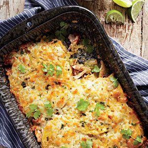 Stacked Chicken Enchiladas | MyRecipes.com