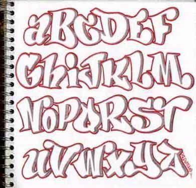 Skizzieren Sie Graffiti-Alphabet Buchstaben a-z in Papier. Graffiti skizzieren … – #alphabet # …