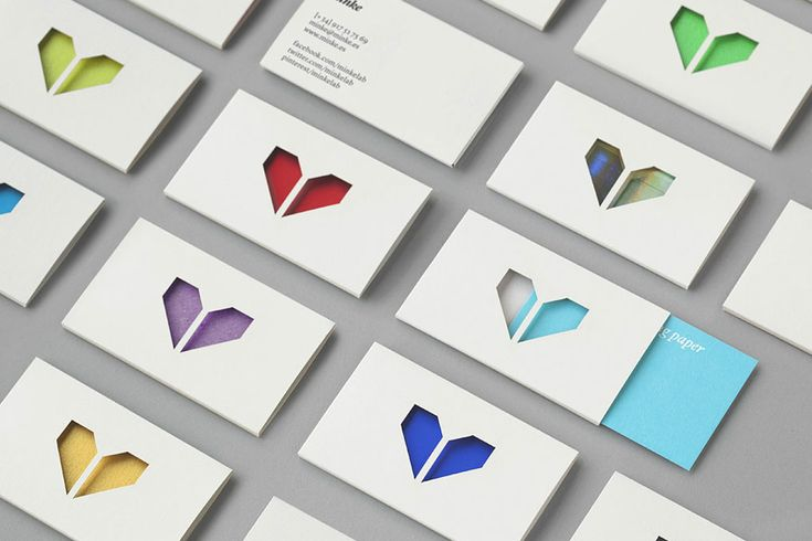 Business card design for Spanish production studio Minke by Atipo