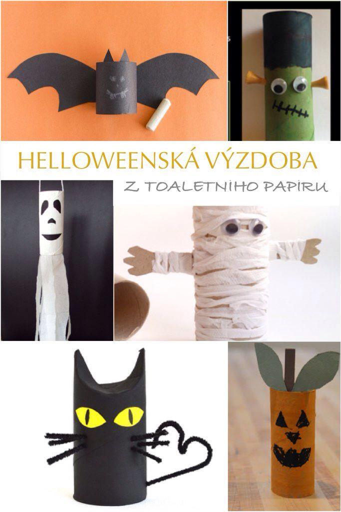 Tvoření z toaletního papíru pro děti Halloween