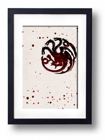 Game of Thrones tv show minimal movie poster art print house targaryen poster movie art wall decor wall art home decor by ThunderDoam on Etsy https://www.etsy.com/listing/193459088/game-of-thrones-tv-show-minimal-movie