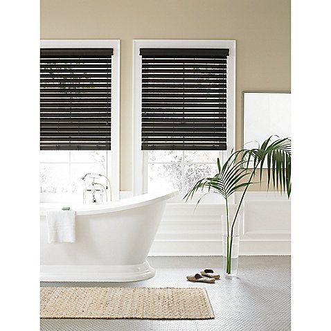 real simple faux wood window blind 40 front door dream