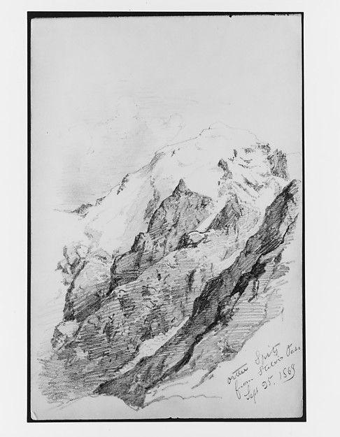 John Singer Sargent | Ortler Spitz from Stelvio Pass (from Switzerland 1869 Sketchbook) | The Met