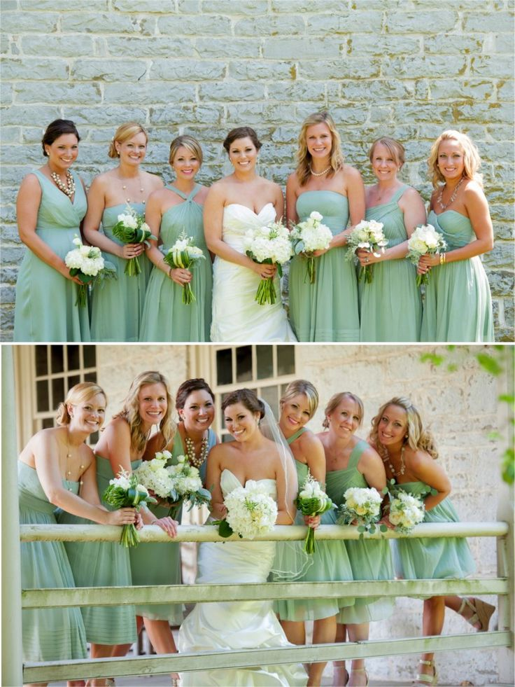 Green: Spring Wedding Colors Green, Flowers For Mint Green Wedding, Bridsmaid Dresses Mint Green, Bridesmaid Dresses Spring, Bridesmaid Dresses Green, Bridesmaid Dresses Same Colour, Mint Dresses, Mint Green Dresses, Diff Dresses