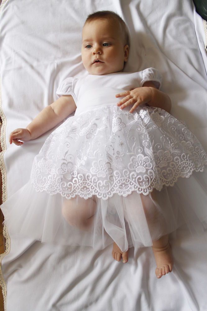 Details about Baby Girl Baptism Dress Christening Gown ...