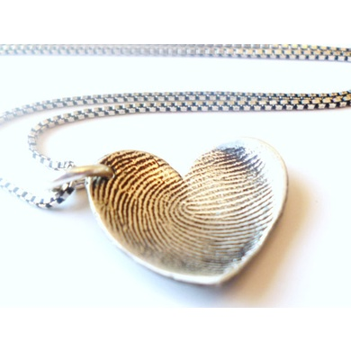 BABY TAGS Mothers Day Fingerprint Thumbprint Keepsake Necklace From Baby Tags Jewelry