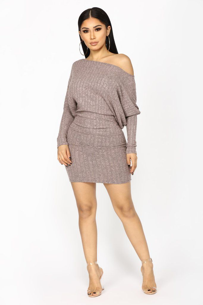 Staci Sweater Dress - Mauve