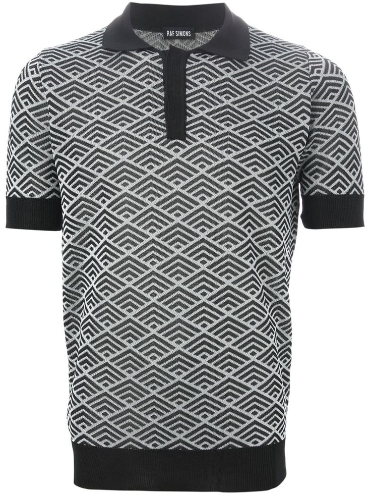 Raf Simons Knitted Polo Shirt - Stijl - Farfetch.com