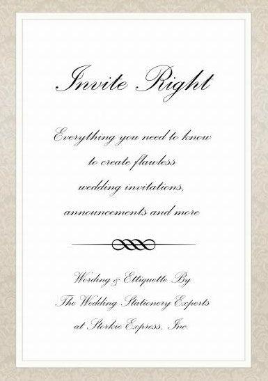 Wedding invitation wording wedding invitation wording for Wedding invitation stuffing etiquette
