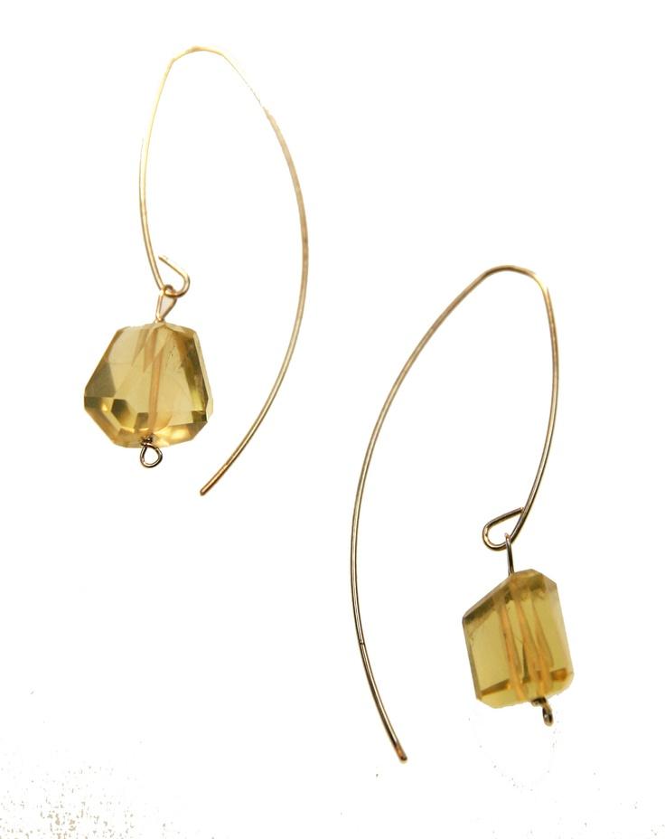 Melissa McArthur Jewellery Lemon Quartz Drop Earing in 22ct Gold Vermeil