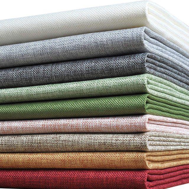 Tienda Online Tela De Lino De Colores De Imitación Tela Barata De Precorte Textil Para Cortina De Tela De Costura Por Me Telas Costura De Tela Telas Por Metros