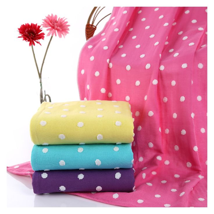 Simanfei Bath Towel 2017 New Fashion Cotton Colorful Cute Dot Pattern Large Towels For Adult Bathrobe Home Textile High Quality