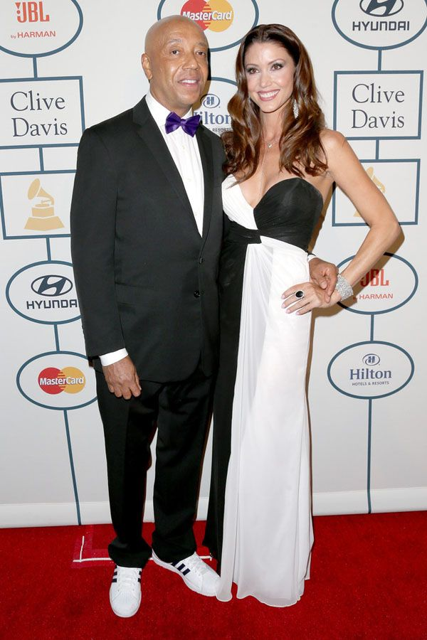 Russell Simmons and Shannon Elizabeth - On the Scene: The 2014 Clive Davis Pre-Grammy Gala - The Fashion Bomb Blog : Celebrity Fashion, Fashion News, What To Wear, Runway Show Reviews