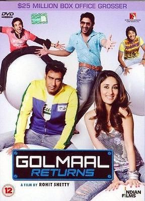 Golmaal Returns  DVD   Hindi Comedy Film / Bollywood Movie / Indian  -exlibrary-