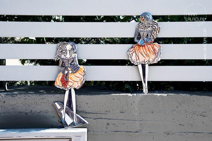 Handmade ceramic figures made by Maria Lalaouni *  http://www.lalaouni.com