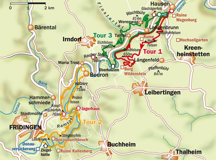 Karte Donautal