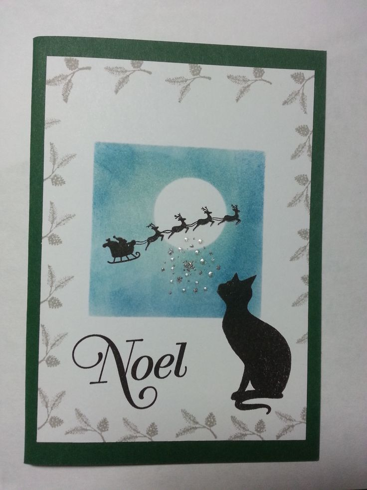 Gorgeous cat watching santa on his deliveries. Check out my blog amethystarcrafting.blogspot.com for more ideas and drop in on my facebook page https://www.facebook.com/#!/amethystarcrafting
