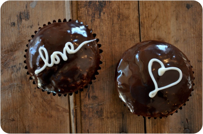 Valentine Love Letter Cupcakes - dark chocolate cupcakes with a heavy ...