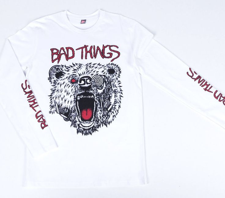 BAD BEAR LONG SLEEVE TEE – Bad Things Apparel