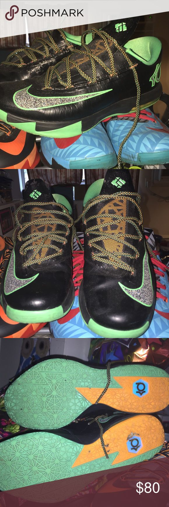 Men's Nike kd 6 shoes In awesome shape these shoes maybe have been worn twice Nike Shoes