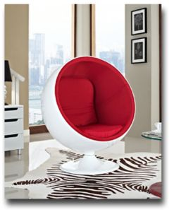 Lexington Modern Eero Aarnio Style Ball Chair