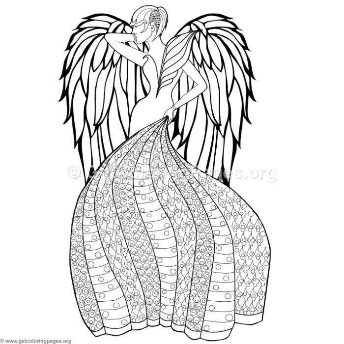 Free Download 2 Fashion Angel Coloring Pages 2 Fashion Angel