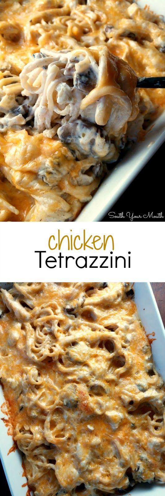 Chicken Tetrazzini with mushrooms and white wine
