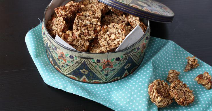 Snadné křupavé ořechové sušenky s ovesnými vločkami a jablečným pyré