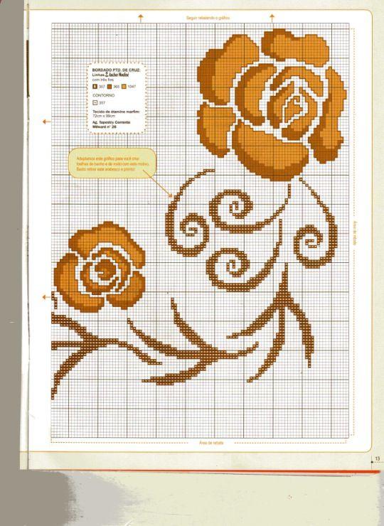 64 best manteles en punto de cruz images on pinterest - Manteles de punto de cruz ...