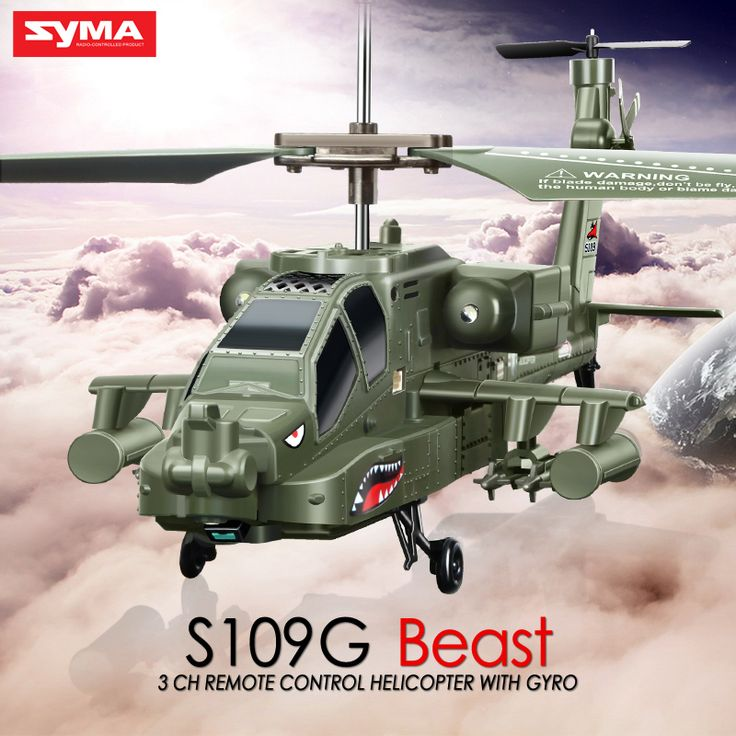 Newest Original SYMA S109G 3CH RC Attack Helicopter AH-64 Apache Helicopter Simulation Indoor Radio Remote Control Toys for Gift //Price: $31.07//     #shop