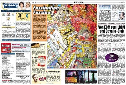 As published in #Kronen #Zeitung - Faszination Fazzino - January 10th, 2013!