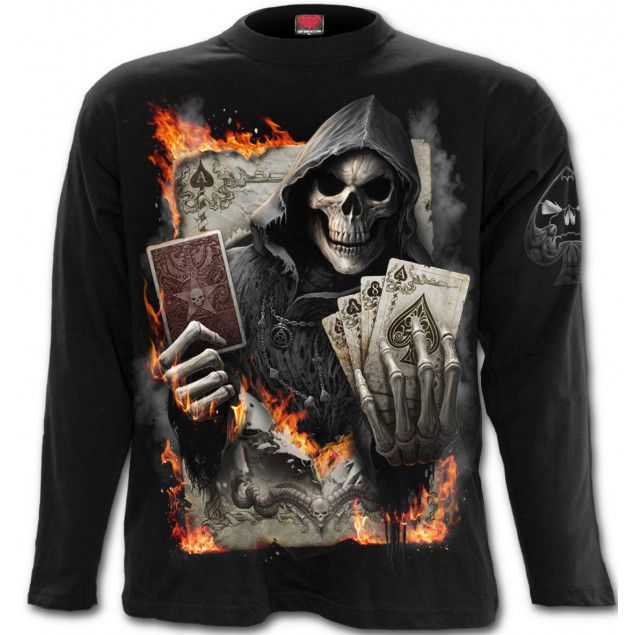 Camiseta Calavera Ace Reaper de Spiral Direct #skull #calaveras #poker #rock #metal #xtremonline