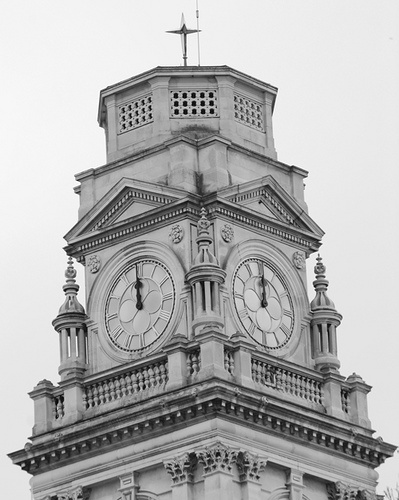 Gorgeous clock tower in Portsmouth, England.