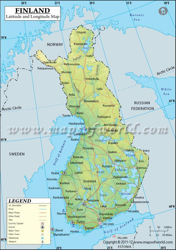 Finland Latitude And Longitude Map Maps And Pinterest - Sweden map with latitude and longitude
